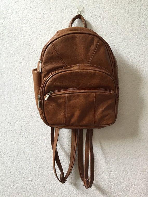 37de7e77c17 Brown leather mini backpack purse by RoadRat on Etsy | Let's Pack It ...