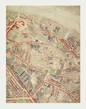 LONDON POVERTY MAP OF BERMONDSEY BY CHARLES BOOTH Charles Booths - Old map shop london