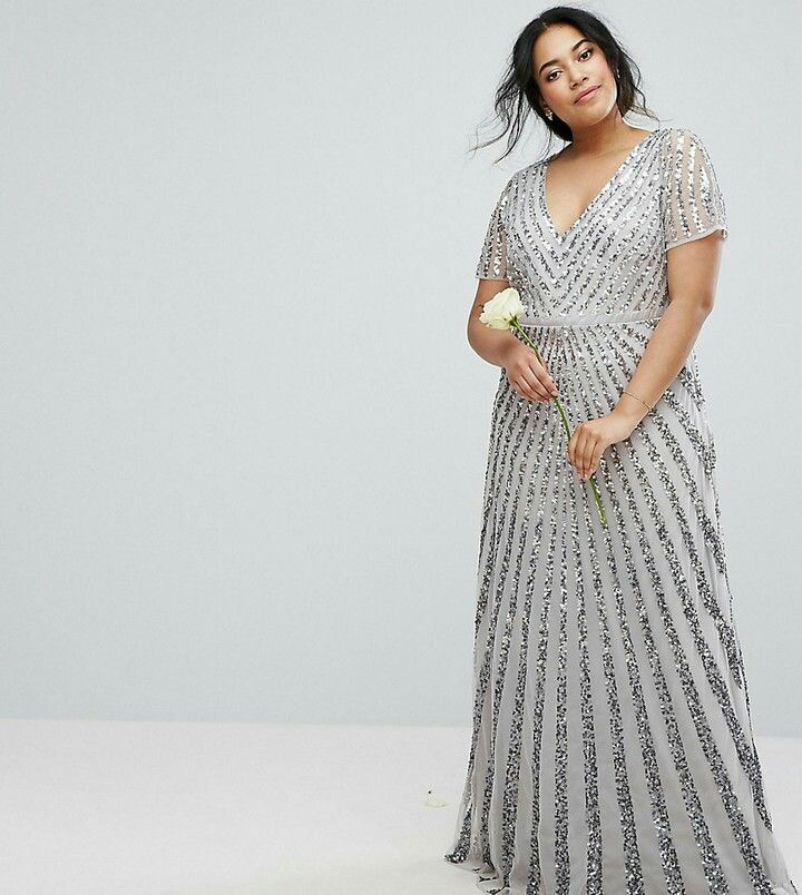 Plus size formal gown Sponsored