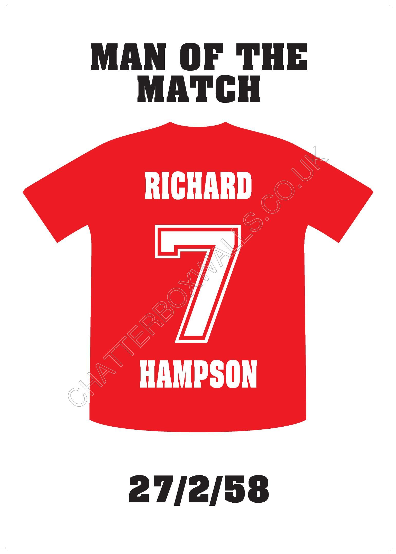 personalised football shirt print thumbnail diy pinterest