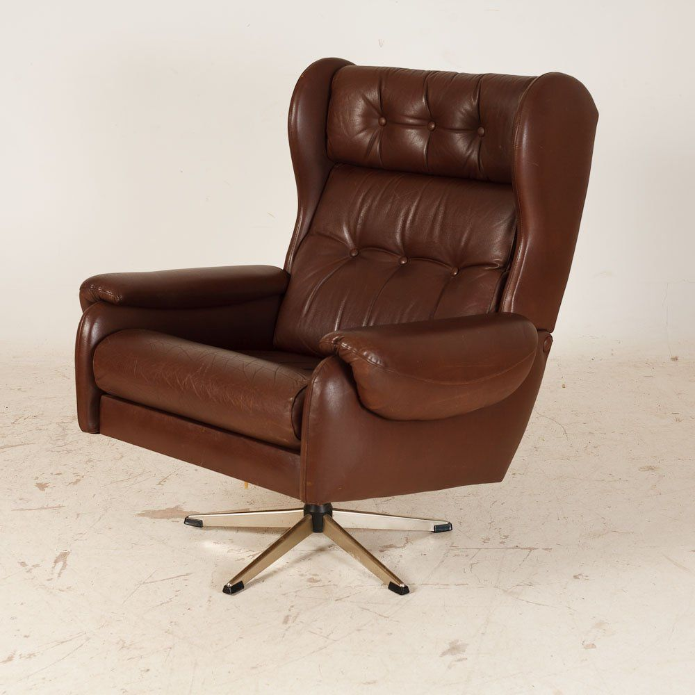 Captivating Fabulous Retro Chair Designs You Must Have : Astonishing Danish Designer  Brown Retro Lounge Office Chair With Comfy Backrest For Elegant Office  Design Nice Design