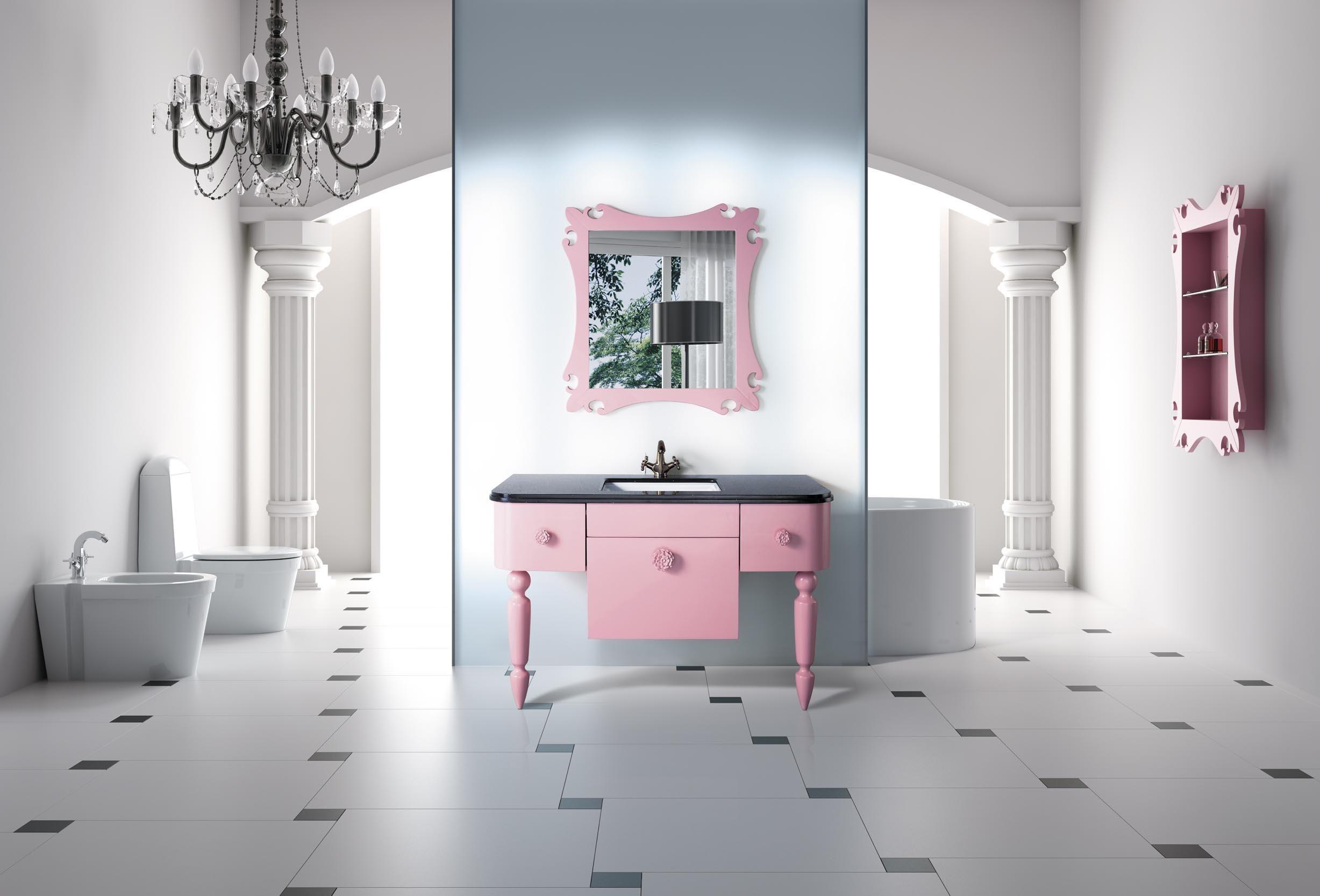 So einen Spiegel und Waschbecken braucht man im Bad