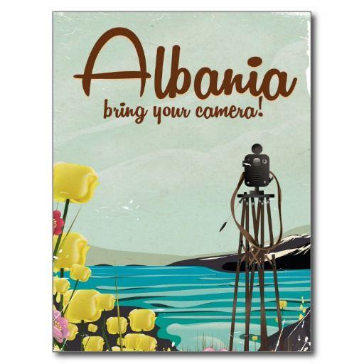 Albania Camera Vintage Travel Poster Postcard