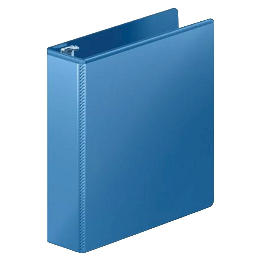 Mead 2 3 Ring Binder 8 5 X 11 Light Blue Durable Hinges Office Supplies