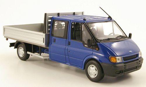Ford Transit Doka Flatbed Platform Trailer Blue 2000