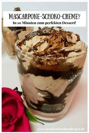 Schnelles Dessert - Mascarpone-Schoko-Creme -