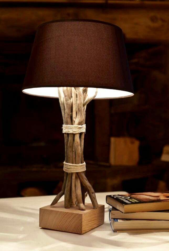 abajour com galhos de rvore decora o lampen stehlampe e treibholz lampe. Black Bedroom Furniture Sets. Home Design Ideas