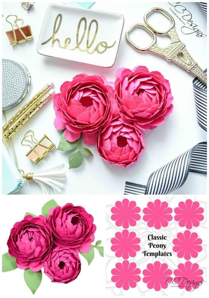 Paper Flower Peony How To Make Paper Peonies Blumen Basteln
