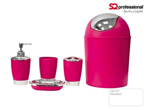 Delicieux Hot Pink Bathroom Sets: Hot Pink Bathroom Accessories The Best Home Decor,