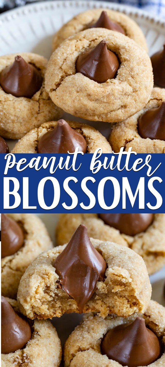 Perfect Easy Peanut Butter Blossoms - Crazy for Crust