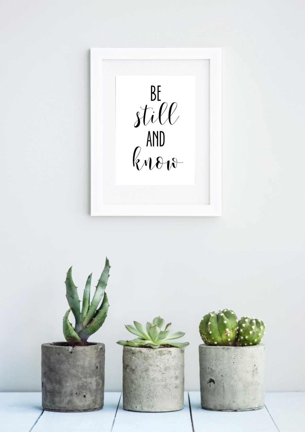 Be still and know print bible verse print religious wall art