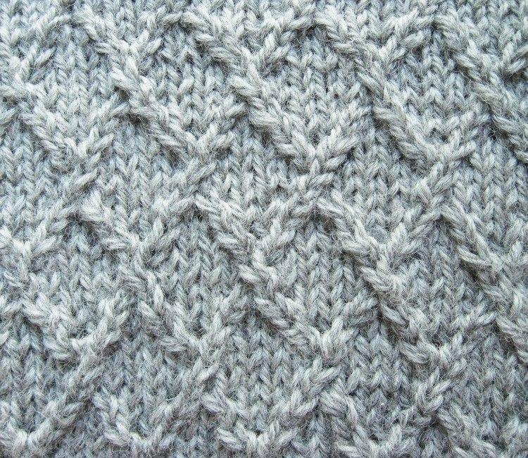 Knitting Rose Stitch : Lattice lozenge or diamond knitting stitch