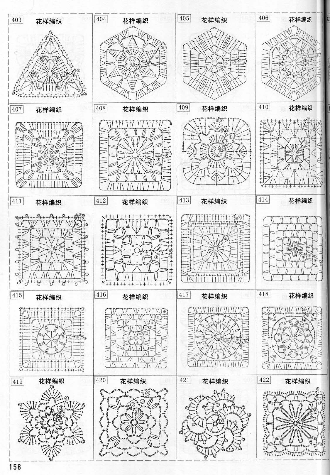 grannys squares... I know this is in a different language but it looked like something worth pinning #grannysquares