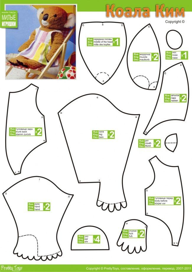 free teddy bear pattern | Teddy Bear Patterns | Pinterest ...