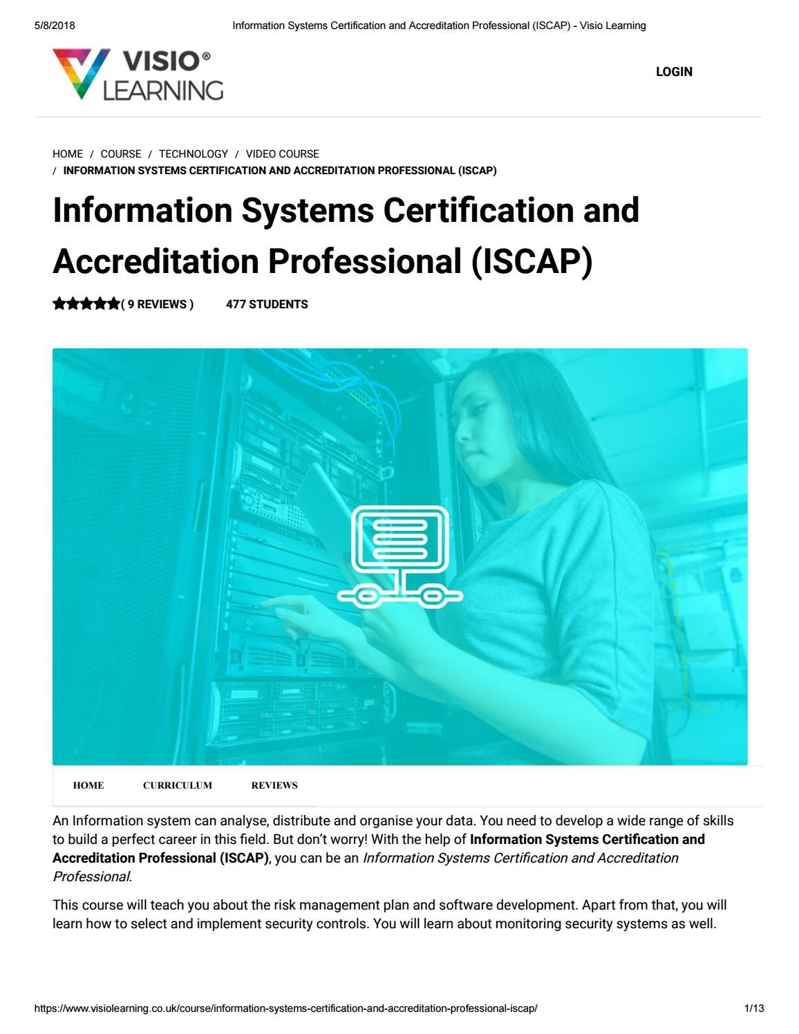Information Systems Certification And Accreditation Professional