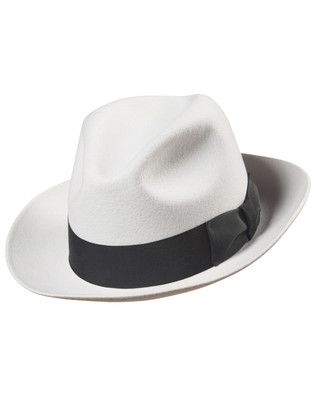 6d1508a3d6e Adult Mens Womens 20s 30s Gangster Costume White Fedora Hat Adult ...