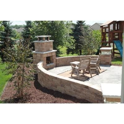 Necessories Santa Fe Compact Outdoor Fireplace Yard