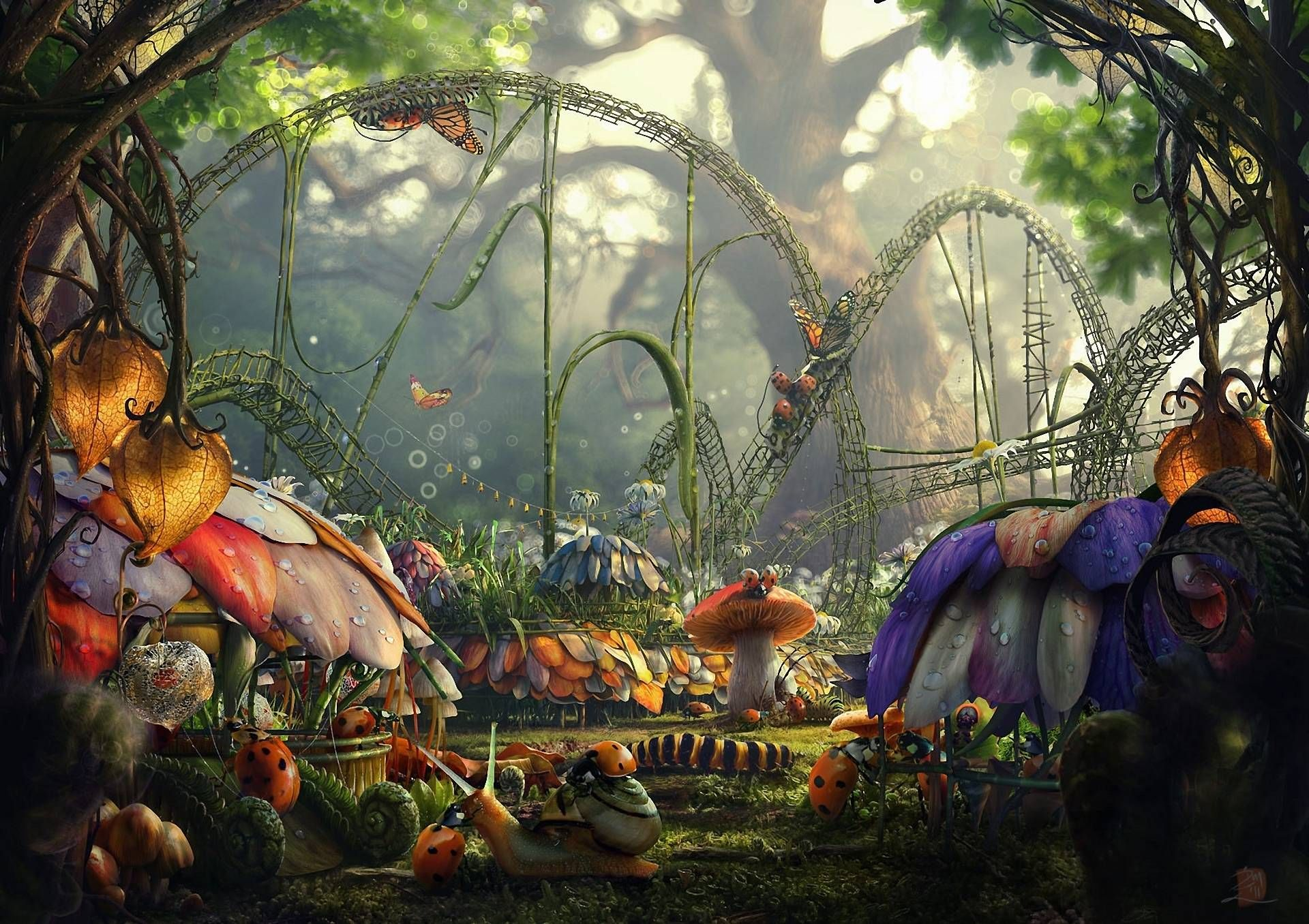 Fantasy Photoshop Premade Backgrounds PSDDude 1920x1080 Fairytale 35 Wallpapers