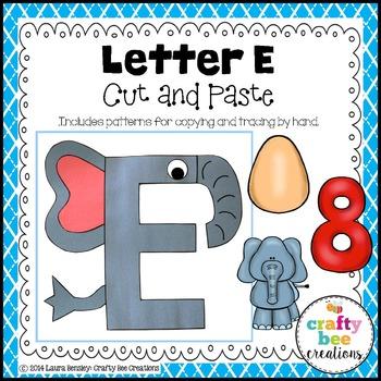 Letter e elephant cut and paste alphabet crafts construction letter e elephant cut and paste spiritdancerdesigns Choice Image