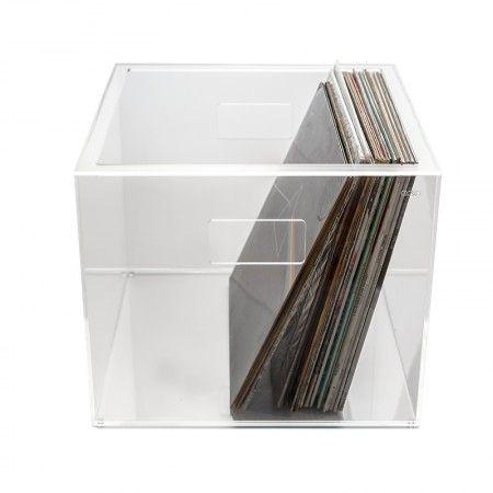 Vinilio 33 Giri Contenitore Per Vinili In Plexiglass Trasparente Record Storage Record Storage Box Vinyl Record Storage Box
