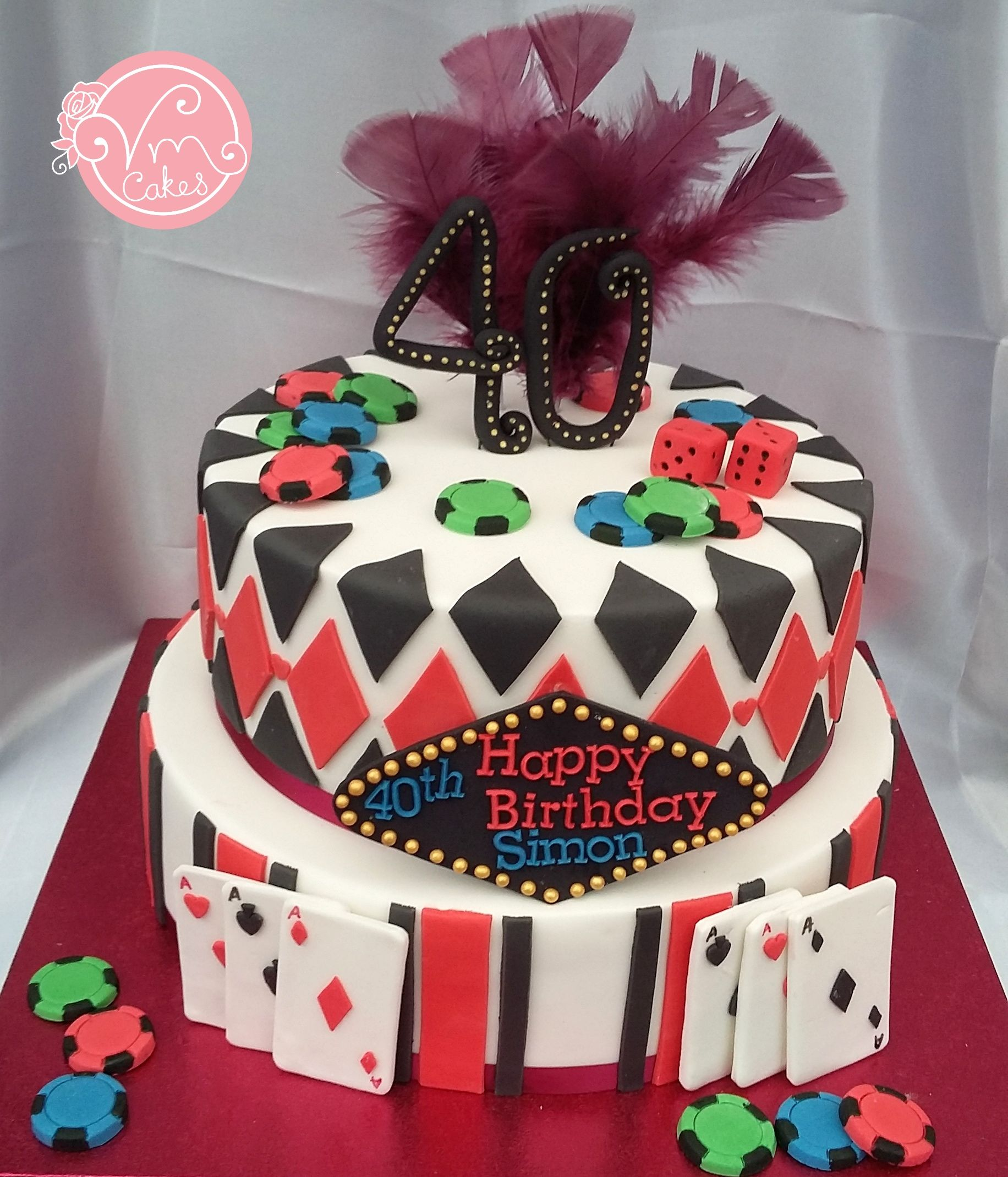 Pin by VM Cakes on Apr Dec 2016 Themed cakes, Casino