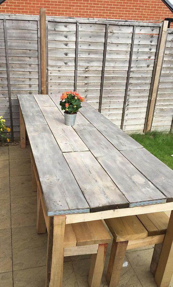 Industrial Table And Benches Scaffold Table Garden Table Diy Garden Table Scaffold Table