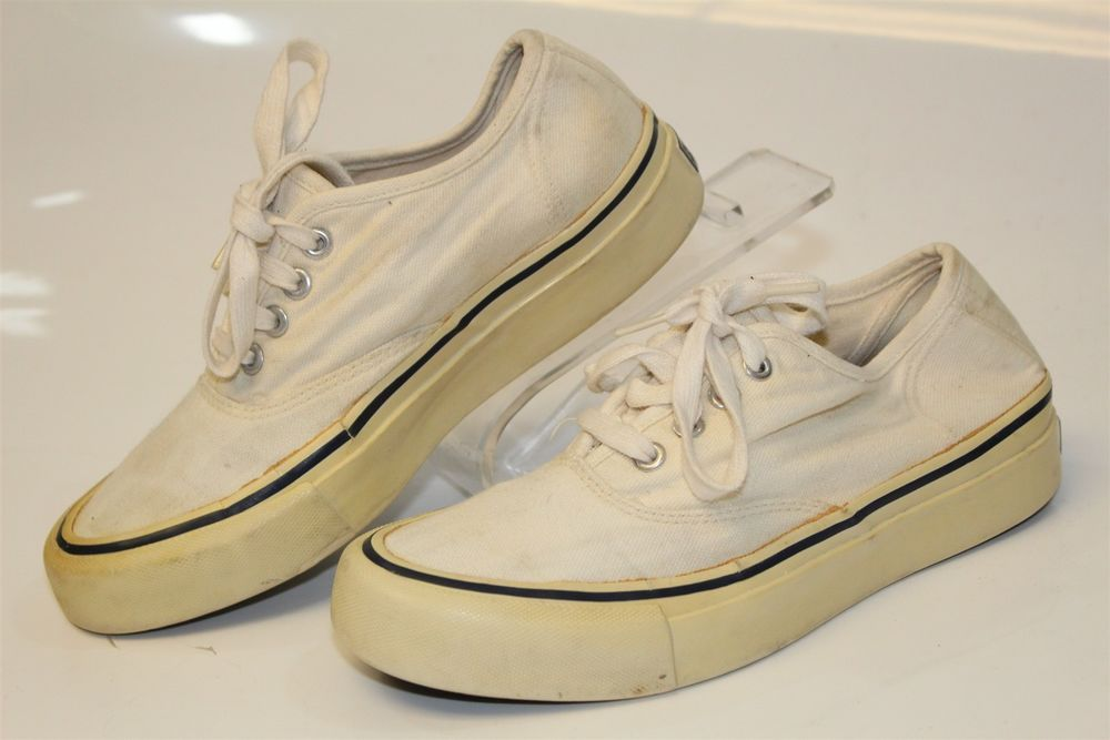 60448c6329a Vintage Polo Ralph Lauren Womens 6.5 B White Canvas Sneaker Shoes WD3422 mw   fashion  clothing  shoes  accessories  womensshoes  athleticshoes (ebay  link)