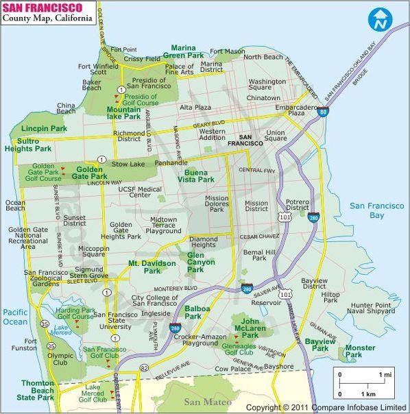 San Francisco County Map USA Maps Pinterest San francisco