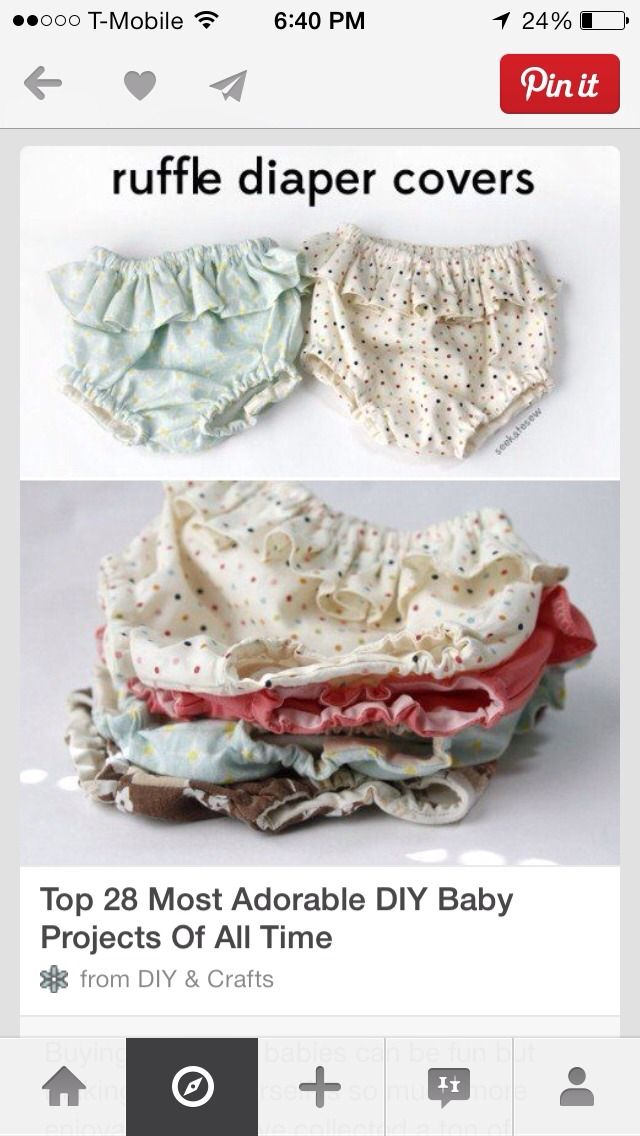 Diy Ruffle Diaper Covers! Super Cute 👶 | Coser | Pinterest ...