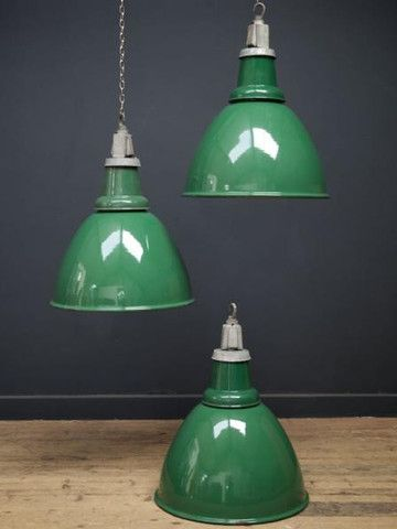 Green enamel industrial pendant lights decorating pinterest green enamel industrial pendant lights aloadofball Choice Image