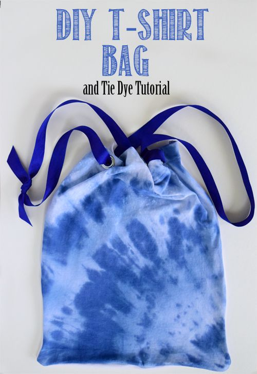 Tie Dye T-shirt Bag Tutorial | Blue ties, Bags and T shirts