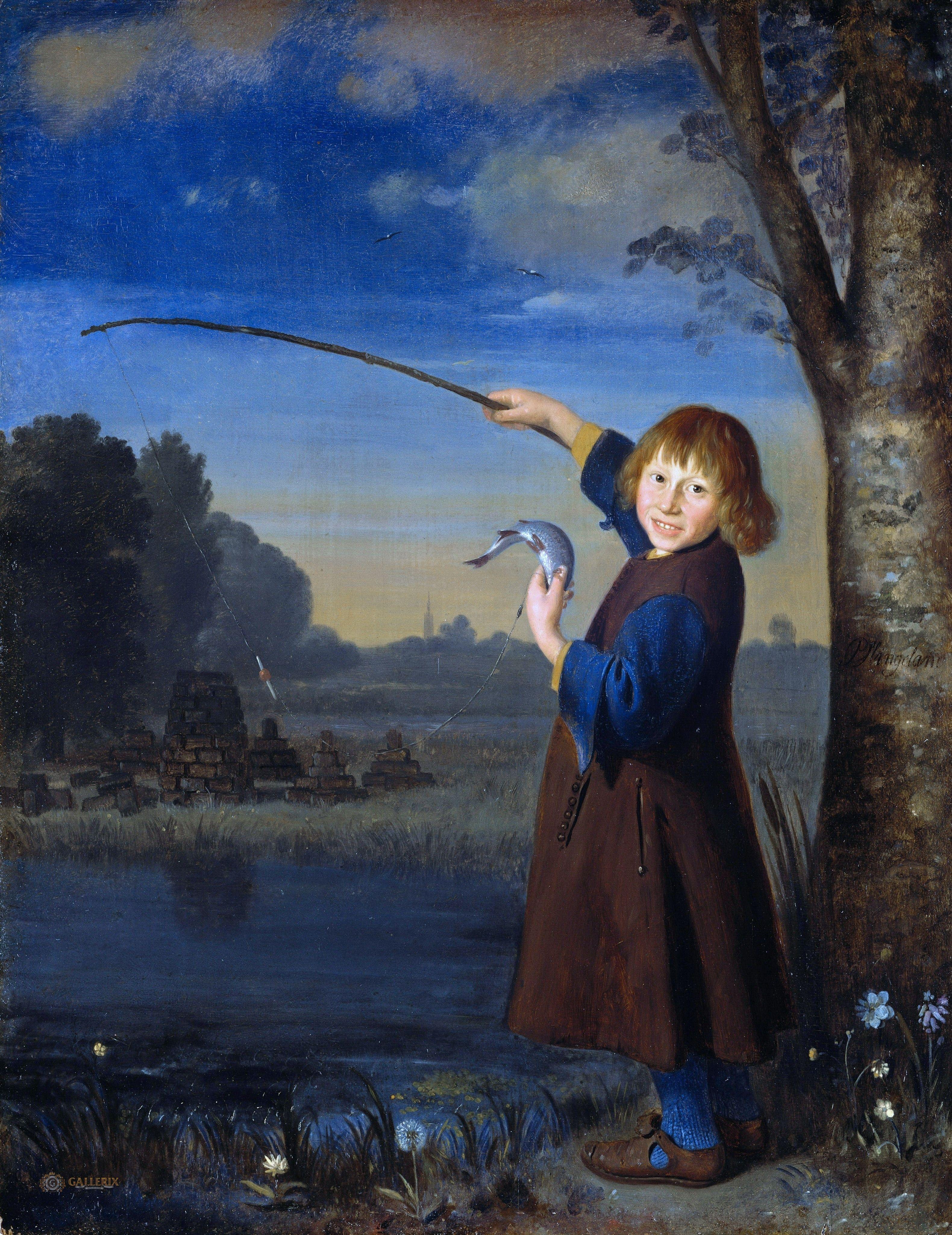 Pieter van Slingeland (1640-1691) - The Young fisherman
