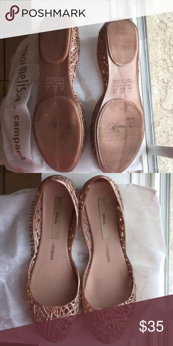 2dc24a611c70 EUC Melissa + Campana Jelly Flats EUC Melissa + Campana Jelly Flats USA  Size 7 Euro size 38 Melissa Shoes Flats   Loafers