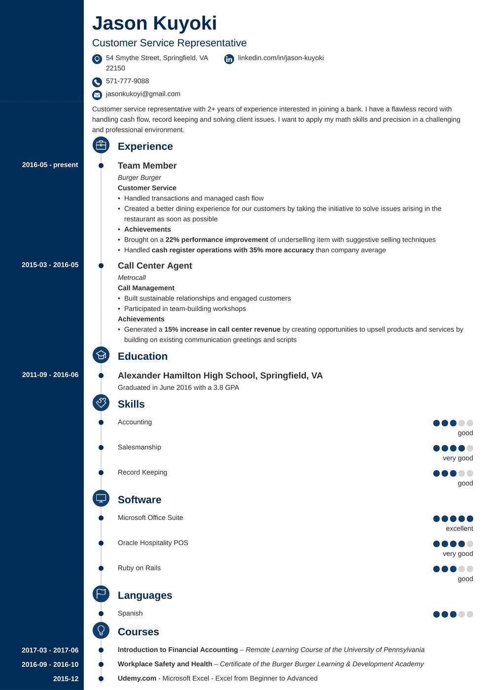 bank teller resume template concept Teacher resume