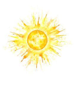 Sun Tattoo Watercolor Google Search Sunshine Tattoo
