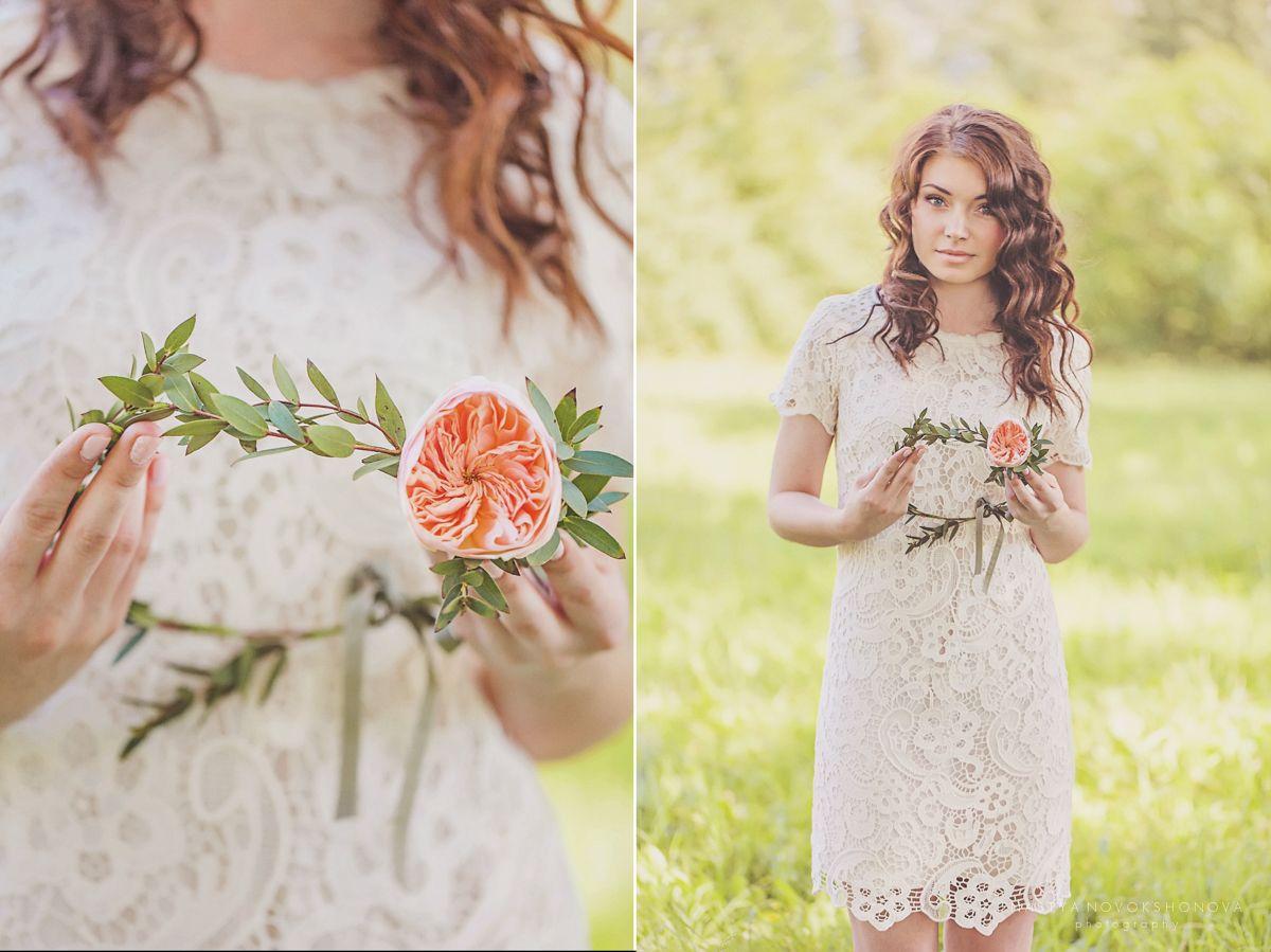 wedding rose hairband