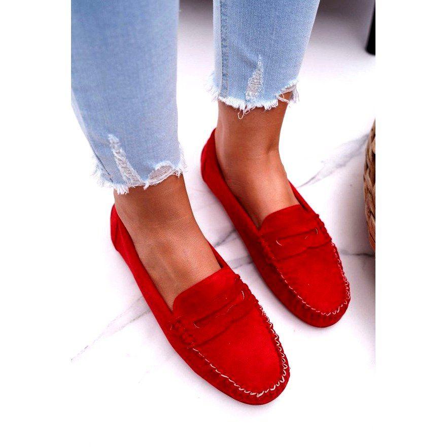 Sea Czerwone Mokasyny Damskie T348 Dress Shoes Men Loafers Loafers Men