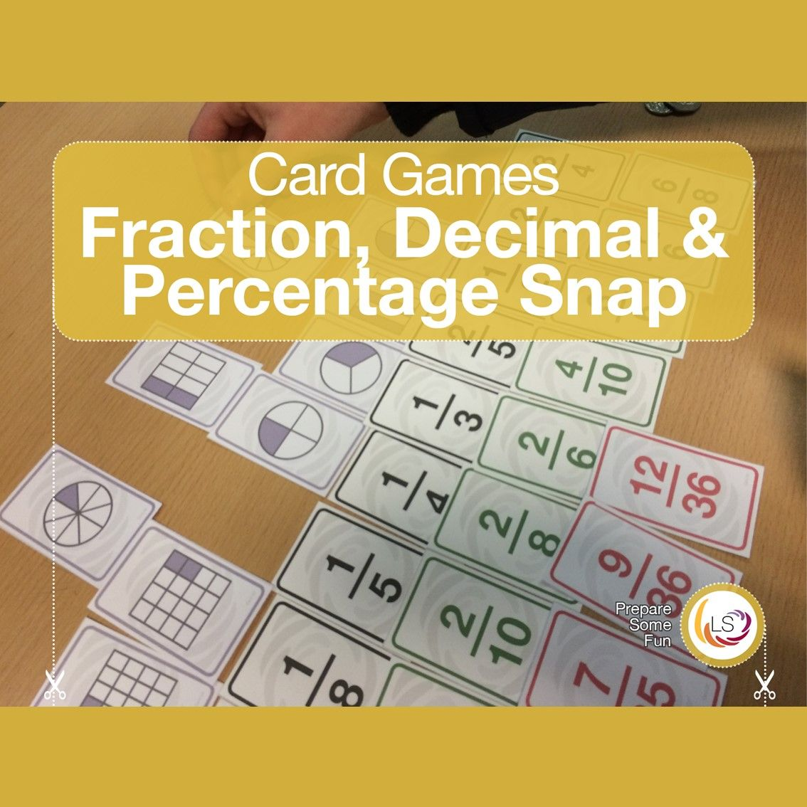 Fraction snap sen toolkit fractions card games
