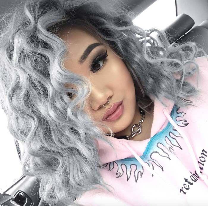 Granny Silver Grey Hair Color Ideas Wiry Silver Curls Silver