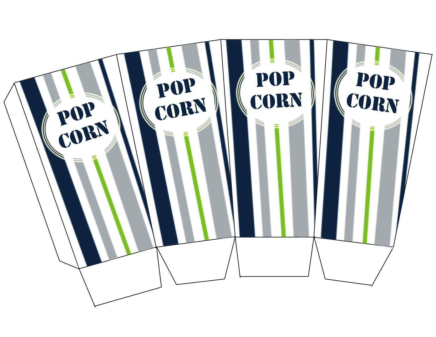 caja palomitas de maíz | imprimibles | Pinterest | Cajas, Las ...