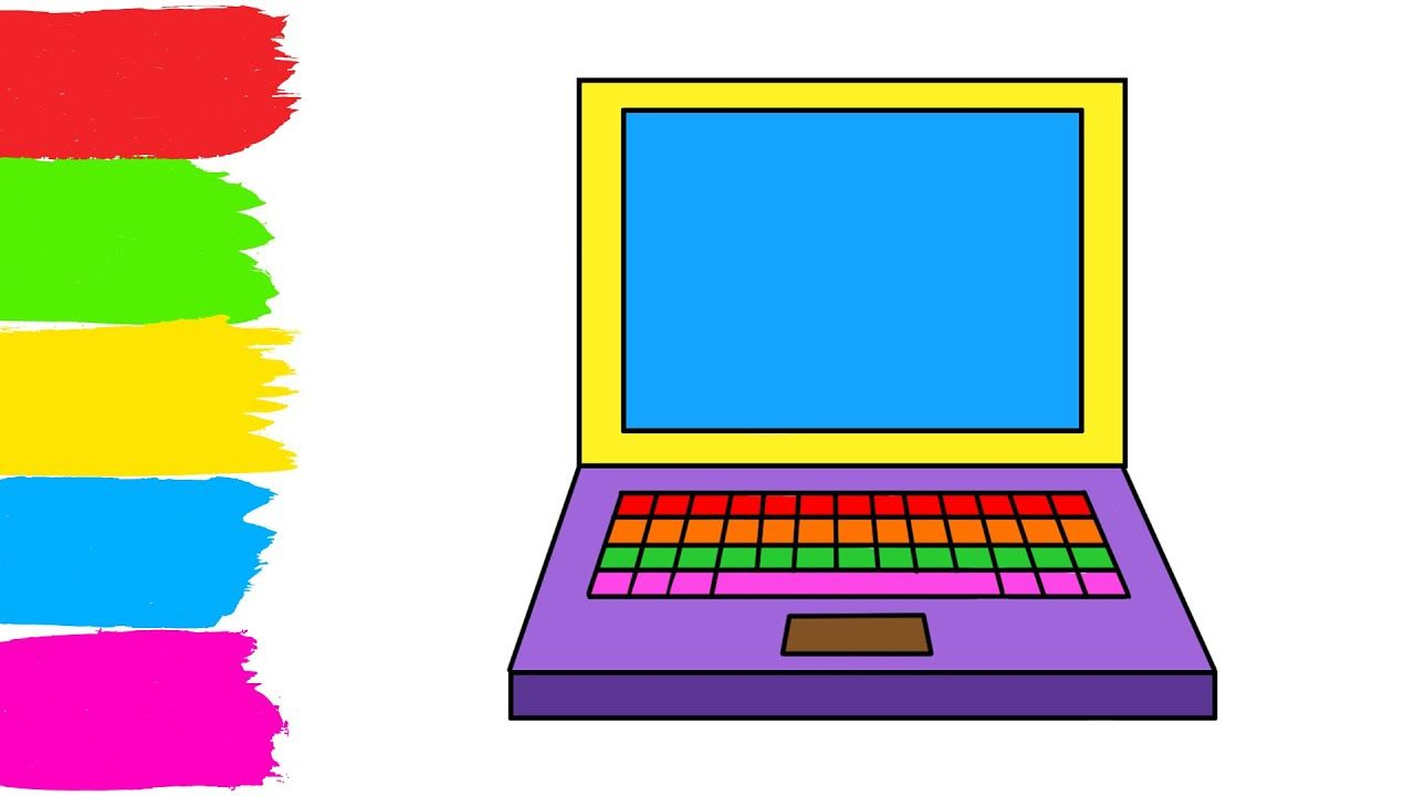 Laptop Coloring Drawing For Kids Fun Coloring Pages For