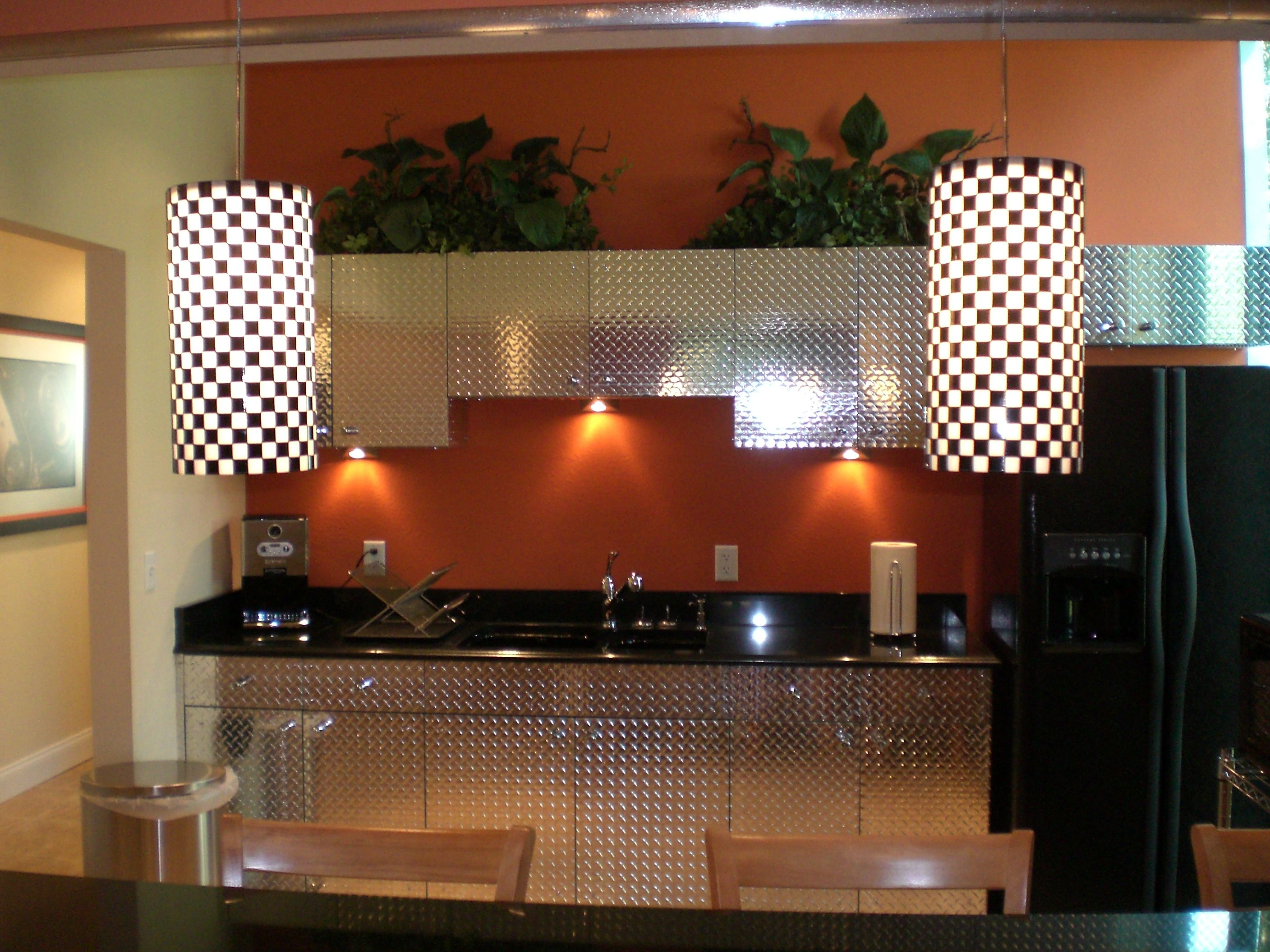 Turn a mica kitchen into something unique and inexpensive by using Diamond plate & Turn a mica kitchen into something unique and inexpensive by using ...