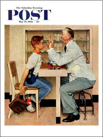 Saturday Evening Post Cover, May 19,1956 - Norman Rockwell (Want)