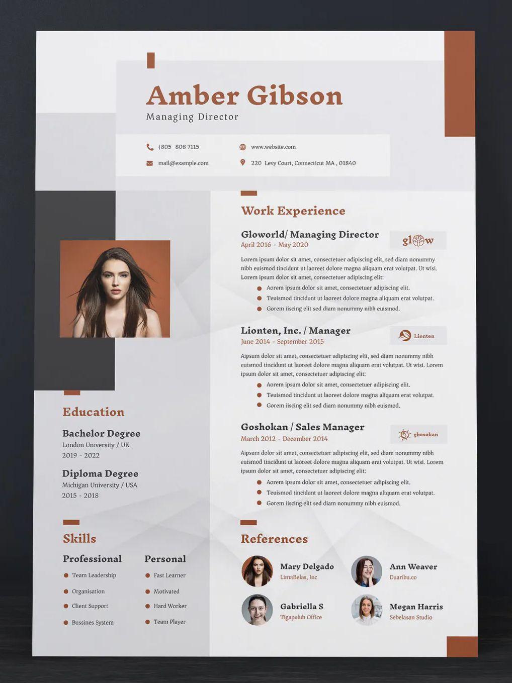 Creative resume cv template creative resume cv