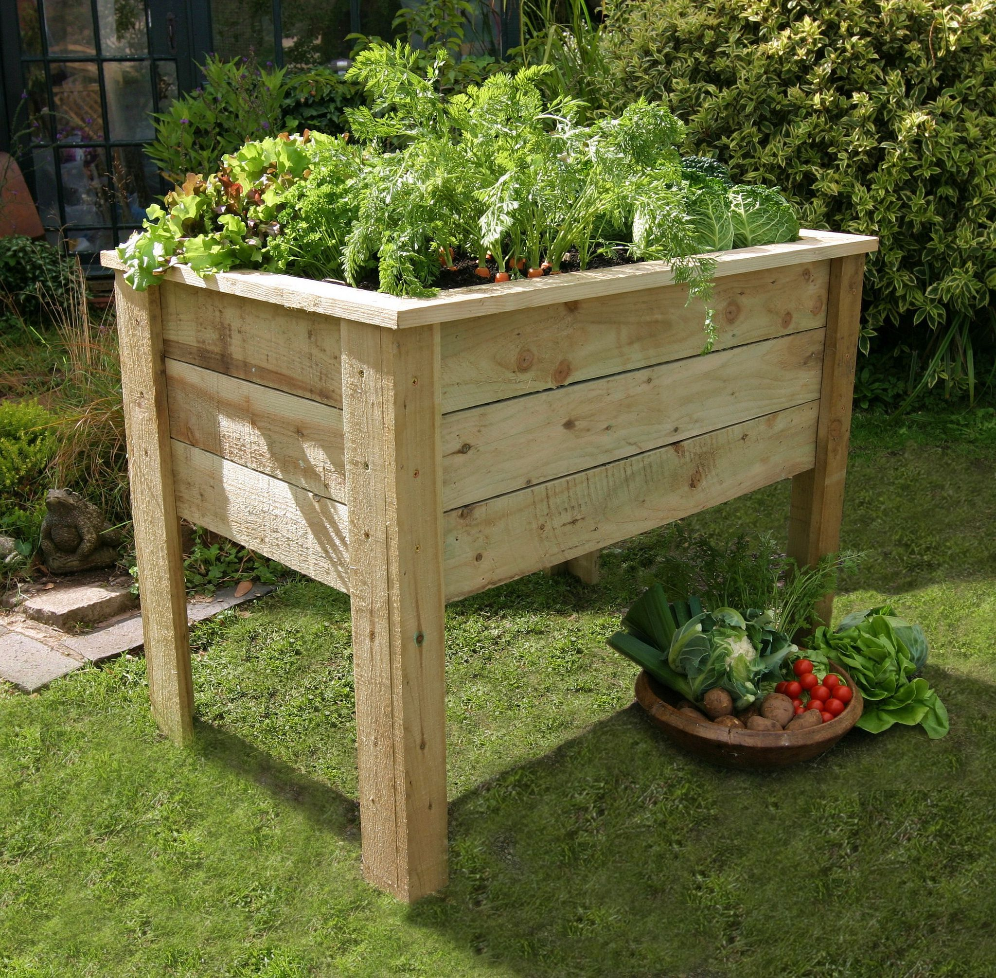 How To Build A Small Raised Bed That Doubles As A Bench Portable