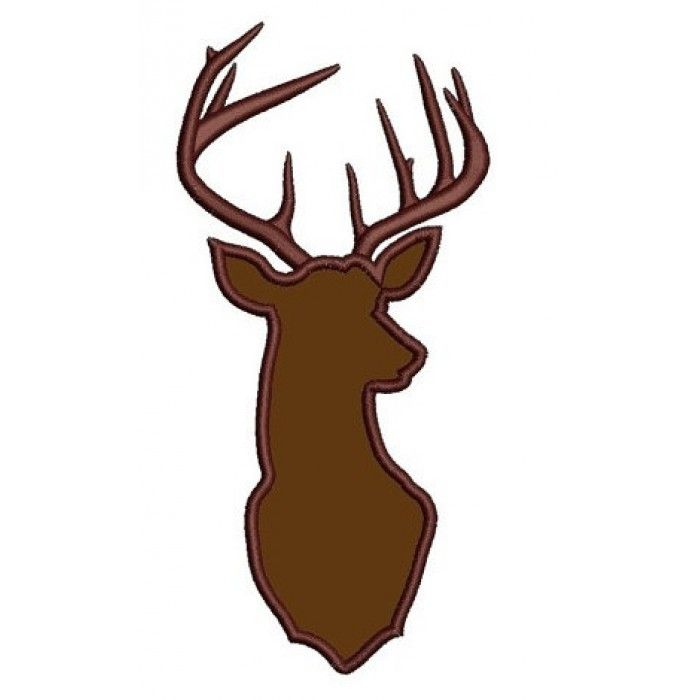 Deer buck digitized hunting machine embroidery applique