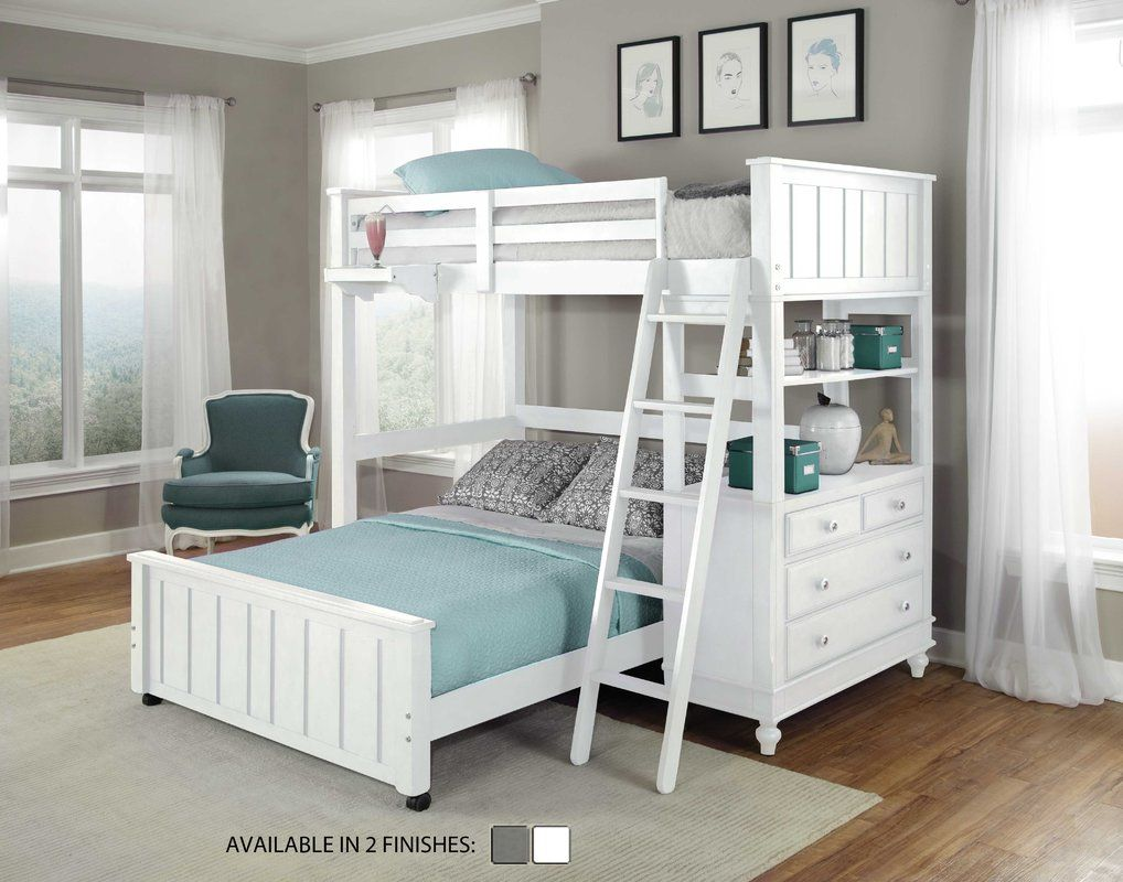 Low loft bed with desk and dresser  Holly Loft with Full Size Lower Bed  Decorating Ideas  Pinterest