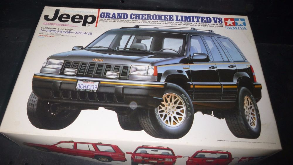 Tamiya Jeep Grand Cherokee V8 Limited 24127 1 24 Model Car Mountain Kit Open Amt