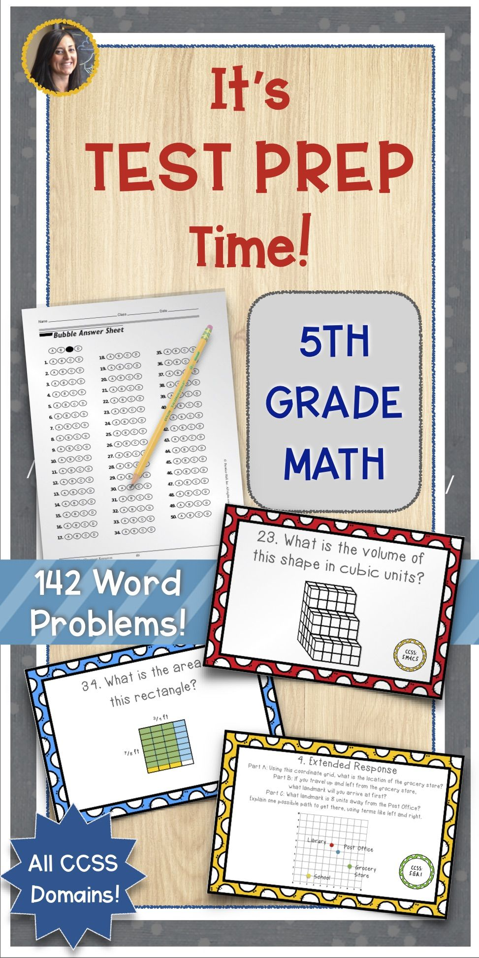 Math Constructed Response Word Problems All 5th Grade Standards