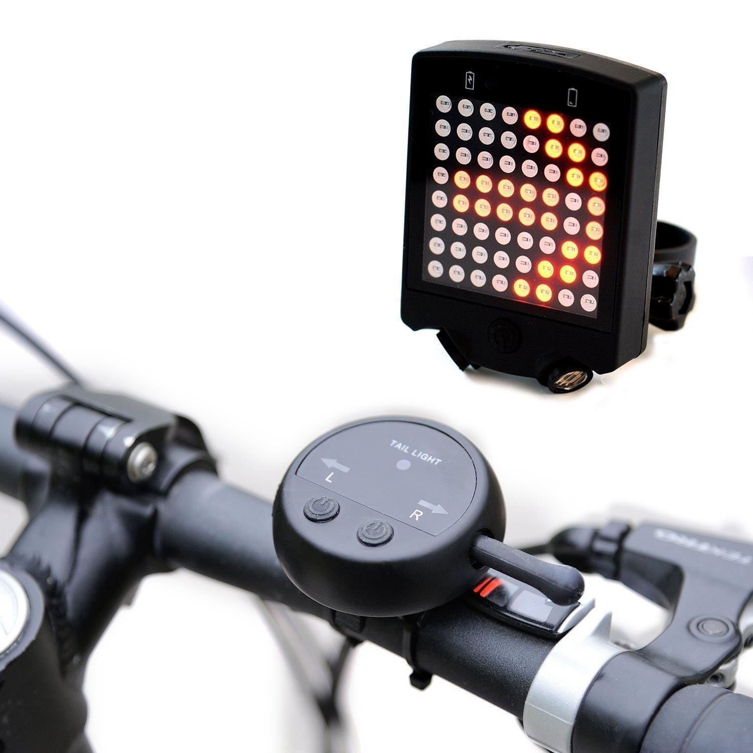 USB Rechargeable Waterproof Bicycle Taillight LED Bike Warning Safety Smart Lamp